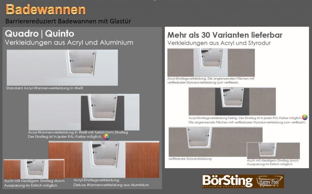 badewannen mit t re diwo glas bad. Black Bedroom Furniture Sets. Home Design Ideas